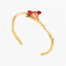 Rose bouquet and trellis bangle bracelet Allons voir si la rose -