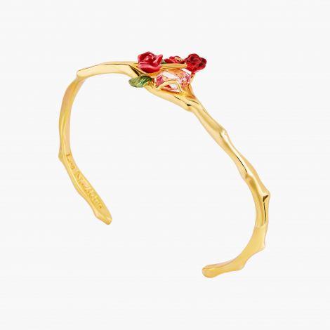 Bracelet Jonc bouquet de roses sur treillis Allons voir si la rose