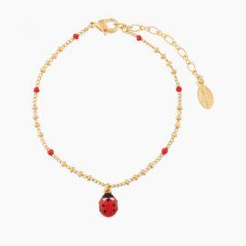 Bracelet pendentif coccinelle 40 souvenirs -