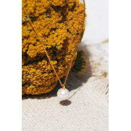 Collier pendentif perle Divine - Olivolga