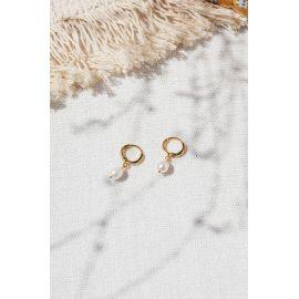 Drop earrings/ White Divine - Olivolga