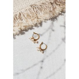 Boucles d'oreilles mini créoles Perles Divine - Olivolga