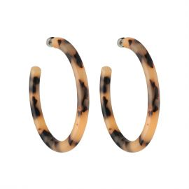 Bold Hoops in Blond Tortoise - Machete