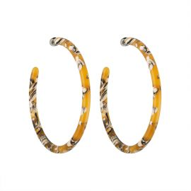 Large hoops in Calico - Machete