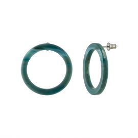 Mini Isla Hoops in jadeite green - Machete