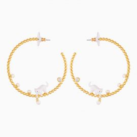 Kitten And Pearl Hoops Les néréides loves animals -