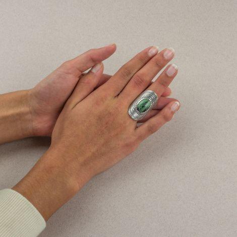 Tanzania Green Ruby Zoisite Ring