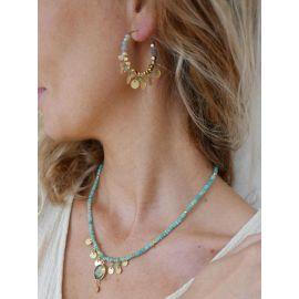 Petites créoles perles CHARLOTTE - L'atelier des Dames