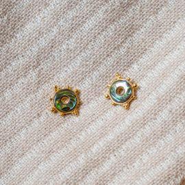 Boucles d'oreilles puces abalone Talisman - Olivolga