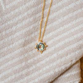 Collier pendentif abalone Talisman - Olivolga