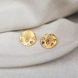 boucles d'oreilles poussoir rondes Heritage - Olivolga