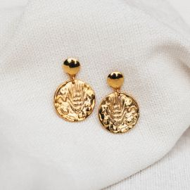 boucles d'oreilles poussoir pendantes Heritage - Olivolga