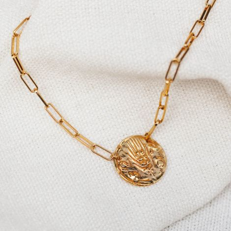 collier médaille grosse chaine Heritage