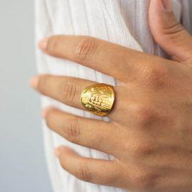 bague médaille ajustable Heritage - Olivolga