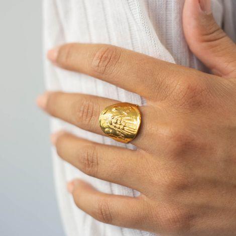 bague médaille ajustable Heritage
