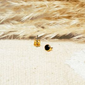 Stud earrings/black Confettis - Olivolga