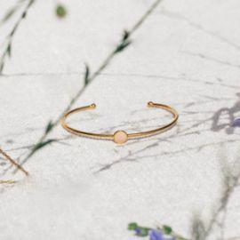 CONFETTIS bracelet jonc rose poudré Confettis - Olivolga