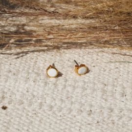 CONFETTIS stud earrings/ecru Confettis - Olivolga