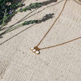 CONFETTIS 3 dangle necklace/ecru Confettis - Olivolga