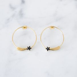 Shooting star hoops Cosmique - Grizzly Chéri