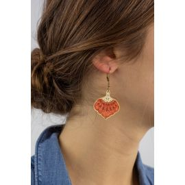Wood Hook earrings DIIGITALE - Amélie Blaise
