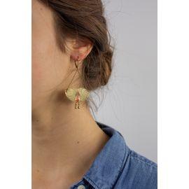 Grandes Boucles d'oreilles dormeuses SPHINX - Amélie Blaise