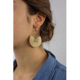Boucles d'oreilles dormeuses KIMONO Rouille - Amélie Blaise