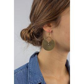 Boucles d'oreilles dormeuses KIMONO Poudre - Amélie Blaise