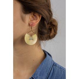Celadon Hook earrings KIMONO - Amélie Blaise