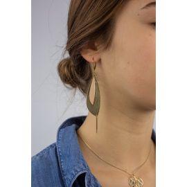 Hook earrings Light pink PÉTALES - Amélie Blaise