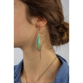 Celadon Hook earrings PÉTALES - Amélie Blaise
