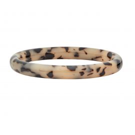 Statement Bangle in Blonde Tortoise - Machete