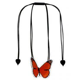 Collier ajustable grand papillon BUTTERFLY orange - Zsiska