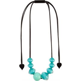 8 blue pearl adjustable necklace MALAI - Zsiska