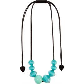 Collier ajustable 8 perles bleues MALAI - Zsiska