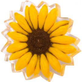 Sunflower brooch PRIMAVERA - Zsiska