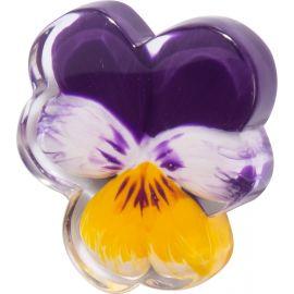 Purple brooch PRIMAVERA - Zsiska