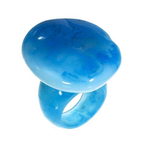 Bague galet nuances de bleus CAPRI taille M
