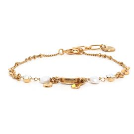 COMPLICES-PERLA thin ecru bracelet - Franck Herval