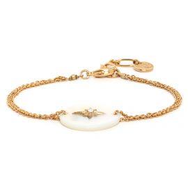"Bracelet nacre blanche - LES COMPLICES ""ETOILE"" - Franck Herval"