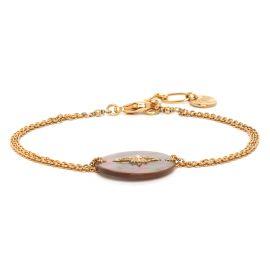 """Bracelet nacre brune - LES COMPLICES """"ETOILE"""" - Franck Herval"""