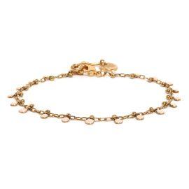 COMPLICES-GUINGUETTE enamal chain bracelet(peach) - Franck Herval