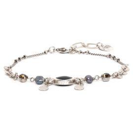 COMPLICES-PERLA thin black bracelet - Franck Herval