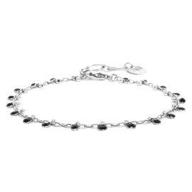 COMPLICES-GUINGUETTE enamel chain bracelet black - Franck Herval