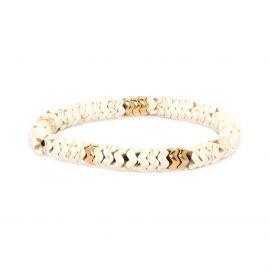 WAVE zigzag bracelet 18K - Franck Herval