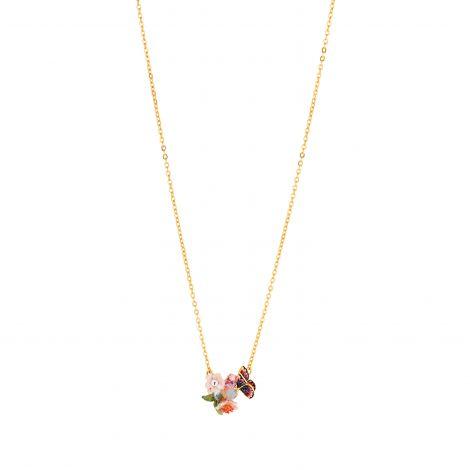 Collier court pendentif pierre de verre Hanami Hanami