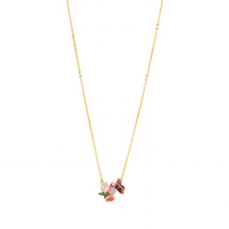 Short necklace Hanami glass pearl Hanami
