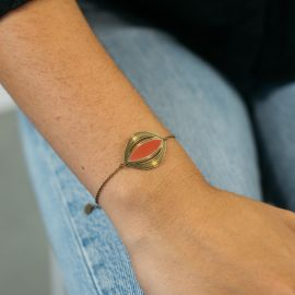 Bracelet VENUS orange - Amélie Blaise