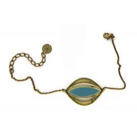 Bracelet VENUS bleu canard - Amélie Blaise