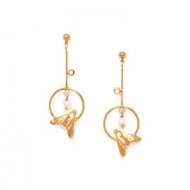 boucles d'oreilles abeille sur anneau Abelha - Franck Herval